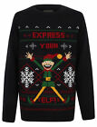 Childrens Knitted 'Express Your Elf' Christmas Jumper
