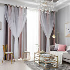 Star Window Curtain Room Double-Layer Yarn Tulle Overlay for Bedroom Living Room