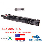 EnergyX 10A 15A 20A 30A MC4 Waterproof in-Line Holder w/Fuse, Black USA Seller