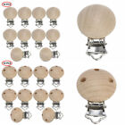10 Wooden Baby Pacifier Clip Holder Clamps Strap Soother Toy No Hole/with Hole