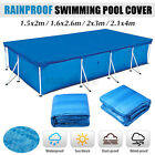 Rectangular Fast Set Family Swimming Pool Cover Ground Pool Cover Waterproof US