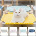 Removable Elevated Cat Bed House Cat Hammock Wood Canvas Cat Leisure Bed