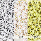 Smiley Face Round Beads, Acrylic Beads,Happy Face Beads, Plastic Round Beads 7mm