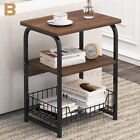 Side End Coffee Console Table Storage Shelves Sofa Couch Living Room Furniture