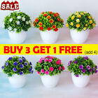 Artificial Fake Potted Flower False Plants Home Garden Outdoor Decor With Pot Ab