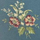 Floral Needlepoint Finished Shabby Chic Rose Iris Multi Color Bell Pull You Pick