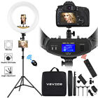 """VEVICE 18"""" LED Dimmable Ring Light Tripod Stand Phone Holder Youtube Live Lamp"""