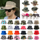 For Unisex Boonie Bucket Hat Fishing Hunting Outdoor Summer Camouflage Sun Cap