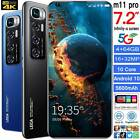 "Unlocked M11 Pro 7.2"" Android 10.0 3g 4g Mobile Smart Phone 4+64gb Smartphone"