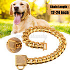 Stainless Steel Curb Chain Pet Dog Puppy Choker Collar Rottweiler Pit Bull Xmas