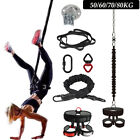 Yoga Aerial Dance Gravity Bungee Pilates Fitness Gym Training Band Belt Rope US
