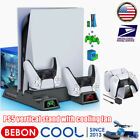 PS5 Controller Charger Dock Stand Cooling Fan for Sony Playstation 5 Dualsense +