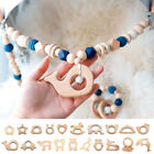 1X Natural Beech Baby Teething Ring Animal Shape Pacifier Molar Chew Wood Toy
