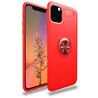 For iPhone 11/ 12 Pro Max/ 12 mini Metal Ring Holder Hybrid Rubber TPU Skin Case