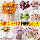 Artificial Fake Rose Daisy Hydrangea Lily Peony Flowers Wedding Home Party Decor