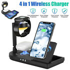 15W Wireless Charging Dock Charger Stand For Apple Watch Air Pods iPhone Station