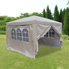 New 3x3m Waterproof Pop Up Gazebo Garden Wedding Party Canopy Tent with 4 Sides