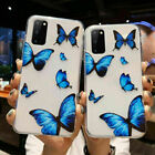 Stylish Case For Samsung S20 S10 Plus S9 Soft Cute Butterfly Clear Phone Cover