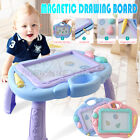 Kids Magnetic Drawing Board Colorful Erasable Writing Table Desk Painting Pen