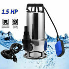 0.5HP/1.5HP Dirty Submersible Clean/ Dirty Water Pump for Garden Yard 400W/1100W