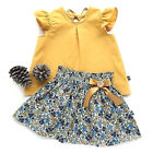 Kids Girls Sleeveless T Shirt Tops  Skirts Sets Holiday Casual Loose Outfits