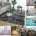 Two Tone Fluffy Rugs Non Slip Large Shaggy Rug Soft Mat Living Room Bedroom Rug