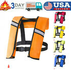 Inflatable Life Jacket Adult Water Sports Swimming Fishing Safety Life Vest US