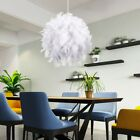 Large Feather Ceiling Pendant Lamp Shade Light Shade White Chandelier Bedroom UK