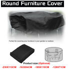 □4-size Round Waterproof Furniture Cover Uv Garden Table Chair Shelter