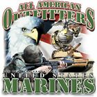 "Military ""UNITED STATES MARINES"" 50/50 Gildan/Jerzees T SHIRT"