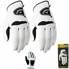 CALLAWAY WARBIRD GOLF GLOVES *2 GLOVE PACK - ALL SIZES* MENS GOLF GLOVES WHITE
