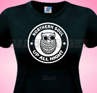 Northern Soul Night Owl Wigan Casino Retro Ladies Cotton T Shirt Small to XL