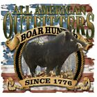 "American Hunting "" BOAR HUNTER "" 50/50 Gildan/Jerzees T SHIRT"