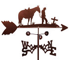 SWEN Products COWBOY and CROSS HORSE Steel Weathervane