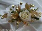 Wedding Bride Hair Clip Rose & Large Pearl All Colours