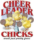 "American  ""CHEERLEADER CHICKS AREN'T JUST PRETTY FACES "" 50/50 Gildan/Jerzees T"