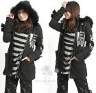 Japan Military Visual Kei DESPAIR ANGEL Punk Soldier Slim Long Jacket Hoodie
