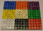 20 14mm Opaque Six Sided Spot Dice Games RPG D6 NEW
