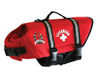 Paws Aboard Red Neoprene Dog Life Vests Safety Jackets