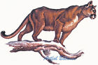 Ceramic Decals Cougar Animal on Branch Scene image