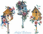 Ceramic Decals Birdhouse Floral Bird House 3 Designs image