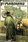 ITALY AUTOMOBILE CICYE FRATELLI MARCHAND PIACENZA CAR HORSE VINTAGE POSTER REPRO
