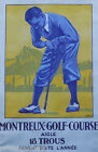 MONTREUX PLAY GOLF COURSE CANTON OF VAUD SWITZERLAND SPORT VINTAGE POSTER REPRO