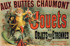 JOUETS TOYS GIRL RIDES WOODEN HORSE TV FRIENDS SHOW FRENCH VINTAGE POSTER REPRO