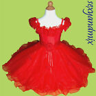 USMD08 Red Chrsitmas Party Baby Kids Clothing Girls Dress 1,2,3,4,5,6,7,8,9 Yrs