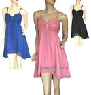 SZ 10 12 14 16 18 20 22 Black Pink Blue Cocktail Dress Short New