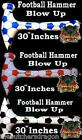 "30"" Inflatable Blow Up Football Hammer World Cup Colours"