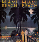 MIAMI BEACH NIGHT HAPPINESS FLORIDA SUNSHINE STATE PARTY VINTAGE POSTER REPRO