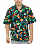 NEW Parrots Margaritas Hawaiian Shirt, black, Benny's
