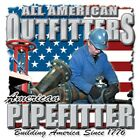American  PIPEFITTER  FREE Shipping 50/50 Gildan/Jerzees T SHIRT